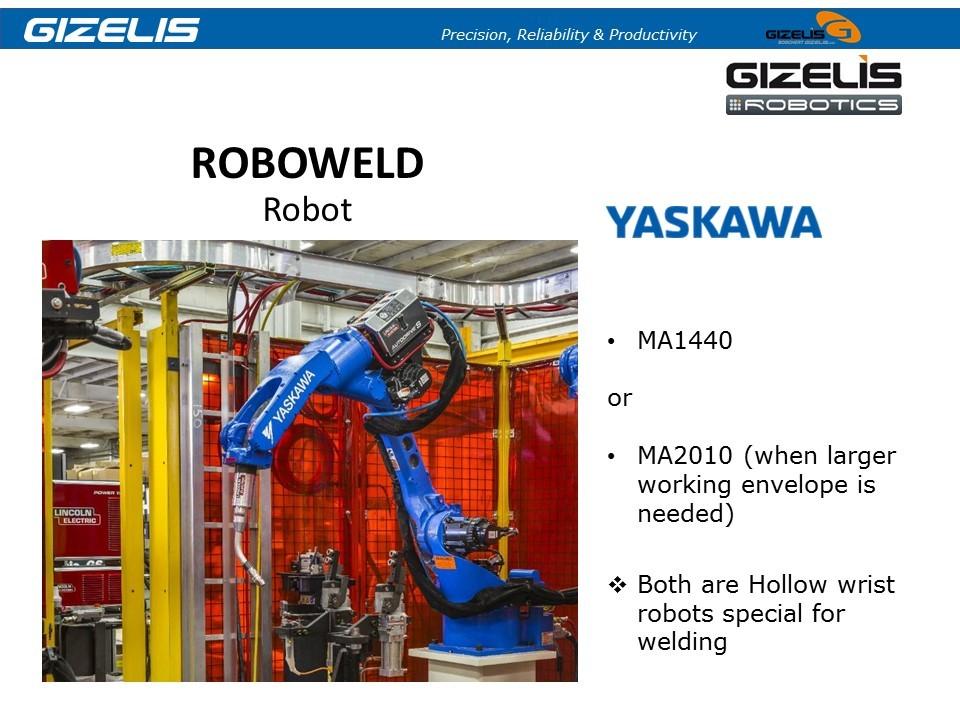 רובוטים לריתוך GIZELIS BOSCHERT